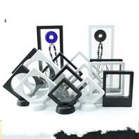 Askıya Alınan Yüzer Ekran Mücevher Kutusu PE Film Ambalaj Kutuları Yüzük Kolye Boncuk Yeni Saklama Kutusu 1 6xm3 K2
