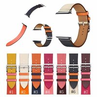 Para a Apple Watch Band Series 5 Substituição Watchband Pulseira de pulso Luxury Designer Letras de couro com adaptador Iwatch Bands 38/40/42/44 mm