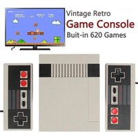 620 Игры Mini Vintage Ретро TV Game Console Встроенный 620 AV Line TV Vedio Game Conisole с 2 Hardwired Joysticks1