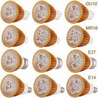 디 밍이 가능한 LED 스포트 라이트 GU10 E27 E14 9W 12W 15W 황금 껍질 전구 시원한 중립 따뜻한 화이트