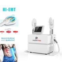 الشحن مجانا سعر المصنع HIEMT EMSLIM العضلات الكهرومغناطيسي محاكي EMS الجسم النحت لا ألم يتأرجح الجهاز بيع