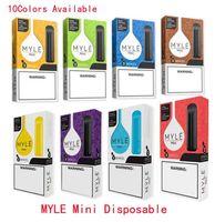 Dernier mini myle Mini jetable Vape Pen 280MAH Batterie 1.2ML Pods Cartouches Pré-remplies E CIGS DISPOSITIF VS VS BABES POPP PLUS PLOP BANG XXL