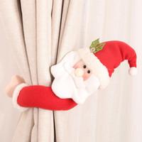 15 Stil Weihnachtsvorhang Schnalle Tieback Santa Snowman Holdback Fastener Schnalle Klemmdekorationen Weihnachtsverzierungen HWB2562