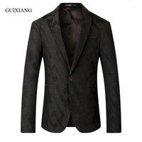 2020 Nova Chegada Outono e Inverno Estilo Homens Boutique Blazers Moda Casual Único Botão Microgroove Slim Masculino Casaco Coat1
