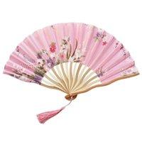 파티 호의 손을 잡아 팬 종이 대나무 접는 중국 스타일 댄스 포켓 선물과 접힌 꽃 팬 홈 장식 / D