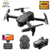DRONES 2021 xt6 미니 드론 4K HD 더블 카메라 와이파이 FPV 공기 압력 고도 접이식 Quadcopter RC 헬리콥터 아이 장난감 Gift1