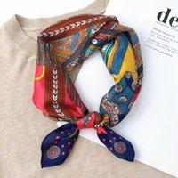 Schöne 100% Maulbeer-Seide Kleines Quadrat 53cm hochwertiger Schal für Frauen Mode Vielseitige Schal für Frühling Sommer Herbst und Winter