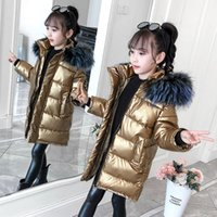 Children Down Jacket Kids Winter Jacket Girls Big Fur Hooded Parkas Thick Coats Warm Outerwear for Cold Winter -30 Degree LJ201125