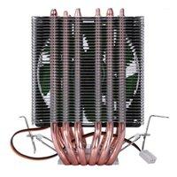 LANSHUO 6 TUYAU DE CHALEUR 3 FIL 3 SANS VENTILLE SANS VENTILLE CPU CPU RADIATEUR DE RADIATEUR DE RADIATEUR DE RADIATEUR POUR INTEL LGA 1155/1156/1366 Refroidisseur1