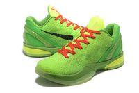 Çocuklar Siyah Mamba VI 6 Grinch Erkekler Kadınlar Spor Ayakkabı Mamba 6 Yeşil Siyah Basketbol Ayakkabı ile Kutusu Ücretsiz Teslimat Boyutu US4-US12