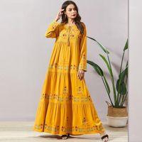 Ramadan Turchia musulmana Abaya Donne Hijab Dress Dress Ricamo UAE marocchino Kaftan Djellaba Jilbab Vestidos Abbigliamento islamico MUSULMAN1