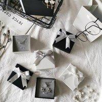 Подарочная упаковка высококлассный лук маленькие коробки для подарков коробка ювелирных изделий кольцо серьги с плавающей сеткой Губка бумажные пакеты1