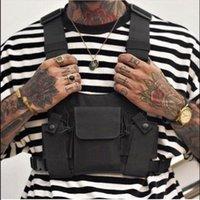2020 남자를위한 가슴 가방 여성 힙합 전술 하네스 가슴 장비 허리 가방 Streetwear 가방 기능 패키지 Kanye 허리 팩 1