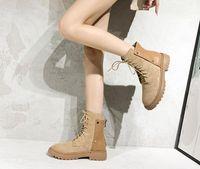 Мартин ботинок девушка 2020 новый стиль плюс бархат весной и зимой британский стиль сапоги веб-знаменитость универсальный прилив случайных ботильоны
