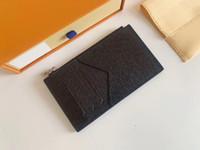 Homens mulheres carteira moda clássico casual cartão de crédito titular de couro ultra magro pacote de pacotes