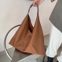Мягкая искусственная кожа черных коричневых женщин ручной сумка большие капсуистые дизайнеры роскошные женские сумки на плечо женские сумки с верхней ручкой 2021