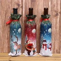 Рождество бутылки вина Обложка С Рождеством Декор Для дома 2020 Xmas Таблица Декор Xmas Новогодний подарок персонализированных украшения 300pcs T1I2602