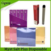 Vape Pen 100% dispositivo originale Myst Salt Inoltre monouso 1000 + soffi 650mAh Batteria 3.2ml preriempita Starter Kit Portable Pods vaporizzatore ecig