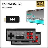 FROG FROG USB لوحات المفاتيح اللاسلكية المحمولة 4K HD فيديو لاعب HDMI 568 AV 600RETRO الكلاسيكية المحمولة الترفيه عصا التحكم