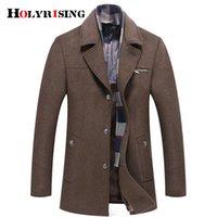 Holyrising winter coat men abrigo hombre M-6XL Size abrigo hombre invierno wool coat men Thick Wool Jacket 4 Color 18438-5 Y200930