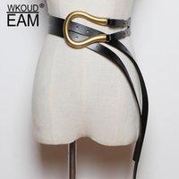 Ремни WKOUD EAM 2021 Мода осенний пояс для женщин коскин металлические кольца пресс типа модная корея случайные классические женщины 1k755