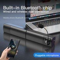 Alto-falantes de livros Bluetooth Speaker Computador Destacável Bar Surround Supwoofer para PC Laptop USB Wired Dual Music Player1
