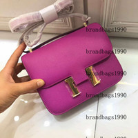 19 cm Cowskin espom Genuine Borse in pelle Borsa da modo Borsa da donna Borse a tracolla Donne Lady Handbag Factory 0022