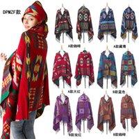 Püsküller Bohemian Kapüşonlu Cloak Pelerin Kadın Pashmina Eşarp Hoodie Moda Şal Dış Giyim Açık Kapüşonlu Sarar Atkılar Paspaslar 6 Renkler LY10261