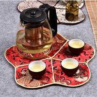 Tischläufer Chinesische Stil Tasse Tischsat Vintage Isolierkissen 2021 Mode Silk Brocade Essmatte Küchenzubehör1