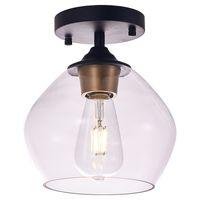 أضواء السقف الحديثة الحديثة الحديد الصمام مصباح بسيط تصميم زجاج الظل مصابيح للأطفال غرفة نوم غرفة الطعام مطعم الديكور