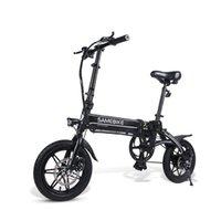 الولايات المتحدة الأسهم سامبيكي Yinyu14 مصغرة دراجة كهربائية للبالغين عجلتين دراجات كهربائية أبيض / أسود طوي 14 بوصة 250 واط 36 فولت دراجة كهربائية