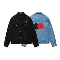 2021 New Mens Denim Jacket Famoso Homens Mulheres de Alta Qualidade Casual Casacos Preto Blue Moda Mens Jaqueta Estilista Outwear Tamanho M-XXL