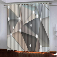 geometric curtains Popular curtains high- end personality liv...