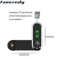 Tancredy 2020 New Car Pelón telefónico Bluetooth AUX Audio Handsfree Car Kit Aux Bluetooth Hands Free Music Receptor Soporte TF1