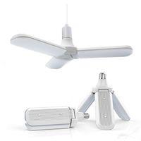 36-45W E27 LED Lampadina SMD2835 228Leleds Super Bright Pieghevole Fan Blade Angolo Regolabile Lampada da soffitto regolabile Home Energy Risparmio di luci GRATUITA