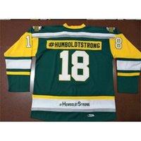 Seltene benutzerdefinierte 888 echte volle stickerei # 18 humboldt broncos #humboldtstrong vintage hockey jersey oder benutzerdefinierte name oder nummer jersey