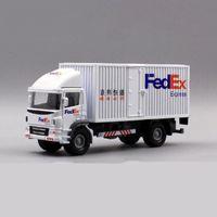 1:60 مقياس لعبة سيارة سبائك معدنية مركبة تجارية صريحة فيديكس فان دييكاست شاحنة شاحنة نموذج اللعب f الأطفال مجموعة LJ200930