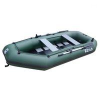 5 Person 330cm Aufblasbare Boot PVC Angelschiene Rudern Dinghy KAYAK Canoe Hovercraft Drifting Floß Segelboot BODE1