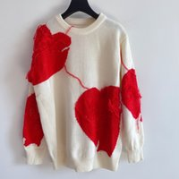 1220 Spedizione gratuita 2020 Autunno Brand Same Style Regular Manica Lunga Crew Collo Bianco Kint Maglione Pullover Donne Vestiti Qian