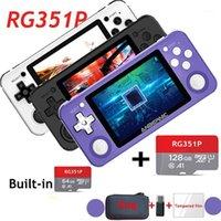 اللاعبون المحمولة لعبة RG351P POWKIDDY الرجعية وحدة نظام لينكس نظام الكمبيوتر قذيفة ps1 n64 لاعب جيب هدية يده 1