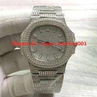 Super 5719 Montre de Luxe Diamond Studded Watch Cal.324 SC Relojes automáticos de movimiento mecánico de relojes con hebilla plegable relojes de diseñador