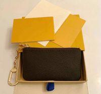 Moda Classic Wallet Hombres y mujeres con cremallera con cremallera Mini cero monedero de cuero con cremallera bolsillo MUCHO M44578