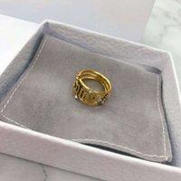 D JIA 2020 nuova lettera di con anello diamante netto rosso temperamento femminile orecchini personalità
