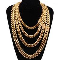 8-18mm largo aço inoxidável cubano miami cadeias colares cz zircon caixa bloqueio grande cadeia de ouro pesado para homens hip hop rock jóias1