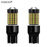 TUINCYN 2PCS Dual Color T20 7443 580 Lampadine a LED per auto Switchback Arancione / Bianco LED Direzione del segnale di direzione con funzione DRL 1200LM1