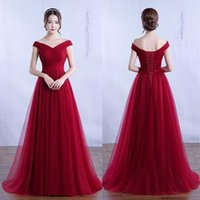 Beauty Emily Long Tulle Maxi Abiti per donna 2020 Elegante Party Dress Off Spalla A-Line Prom Gown Casual Party Dress Vestido1