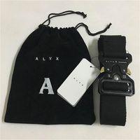 ALYX Gürtel 128 cm Mode Sicherheitsgurt Männer Frauen RolleCoaster Black Metal Button Canvas Alyx1
