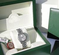 공장 판매 여성 자동 운동 26mm 숙녀 SS / 18K 화이트 골드 실버 다이아몬드 # 179174 원래 상자 다이빙 시계