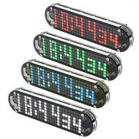 Afficher DS3231 Température Matère haute précision DIY Digital Dot Matrix LED Réveil Kit de réveil avec Date de cas transparente Date Display1