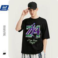 Camisetas para hombre Camiseta de los hombres de la inflación con la impresión de la estrella del baloncesto Fit regular Foot 100% algodón Hip Hop Tshirt 1010S201